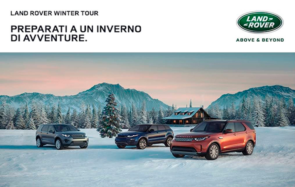 Evento Land Rover Winter Tour Cortina Belluno